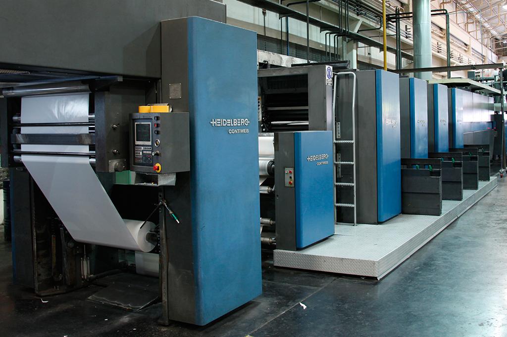 Tecnología de impresión Offset rotativa Heidelberg M600